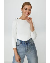 Coast Chain Shoulder Knitted Jumper - Multicolour