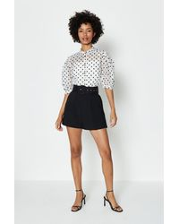 Coast Belted Tailored Short - Black