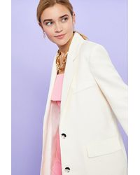 Coast Linen Look Girlfriend Blazer - White