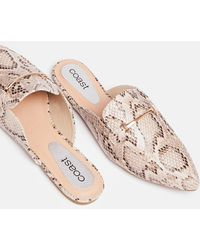 Coast Animal Print Backless Loafers - Pink