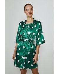 Coast Satin Spot Gown - Green