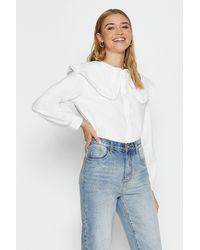 Coast Cotton Bibbed Shirt - White