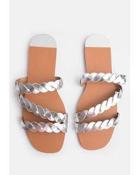 Coast Corded Flat Sandal - Metallic
