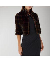 Coast - Leah Mesh Faux Fur Jacket - Lyst