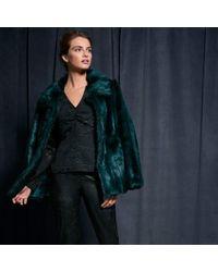 Coast Lucy Fur Coat - Blue