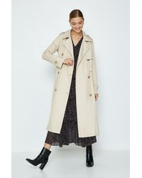 Coast Pleated Trench Coat - Brown