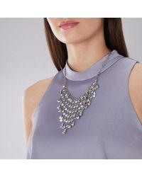 Coast - Silver Farah Statement Necklace - Lyst