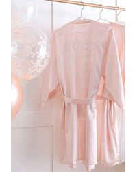 Coast Ginger Ray-'brides Besties' Dressing Gown - Pink