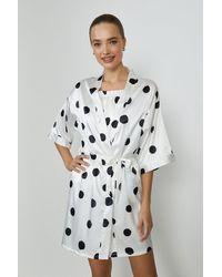 Coast Satin Spot Gown - White