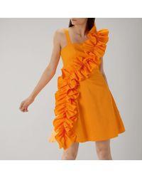 Coast - Camille Ruffle Cotton Dress - Lyst