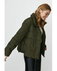 Coast Short Puffer Jacket - Green