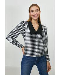 Coast Checked Contrast Collar Shirt - Multicolour
