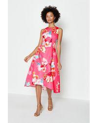 Coast Twill Hi Low Dress - Pink