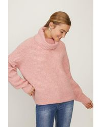 Coast Oversized Roll Neck Knit - Pink