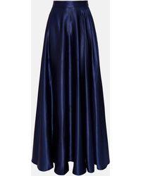 Coast Satin Maxi Skirt - Blue