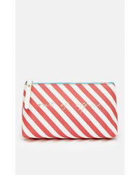 Coast Stripe Out Of Office Make Up Bag - Red