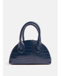 Coast Croc Oval Grab Bag - Blue