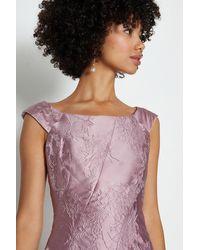 Coast Jacquard Twist Seam Dress - Pink