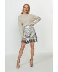 Coast Sequin Tassel Skirt - Metallic