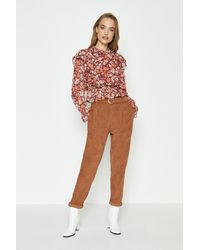 Coast Cord Belted Trousers - Multicolour