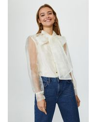 Coast Pussy Bow Organza Blouse - White