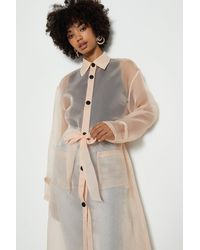 Coast Belted Organza Jacket - Pink