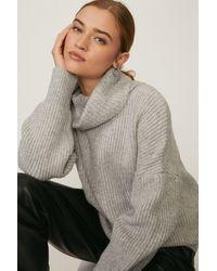 Coast Oversized Roll Neck Knit - Grey