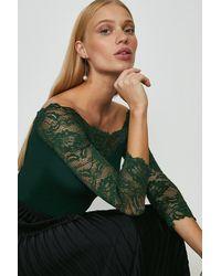 Coast Lace Bardot Body - Green