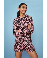 Coast Printed Loopback Raglan Sweatshirt - Multicolour
