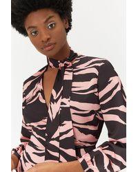 Coast Plus Size Zebra Print Dress - Multicolour