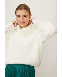 Coast Oversized Roll Neck Knit - White