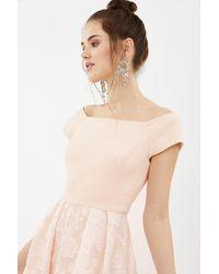 Coast Bardot Neck Embroidered Midi Bridesmaid Dress - Pink