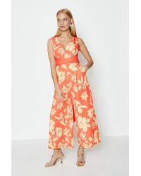 Coast Printed Jumpsuit - Orange