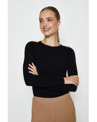 Coast Trim Detail Knitted Jumper - Black