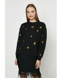 Coast Star Detail Sweatshirt - Black