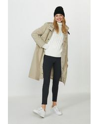 Coast Faux Fur Lined Coat - Brown