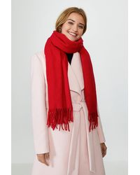 Coast Soft Tassel Scarf - Red