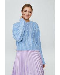 Coast Knitted Long Sleeve Jumper - Blue