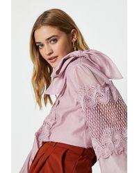 Coast Tie Neck Lace Detail Blouse - Pink