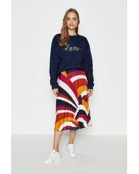 Coast Slinky Jersey Pleated Skirt - Orange