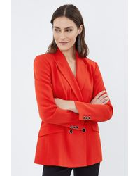 Coast Soft Tailodouble Breasted Jacket - Red