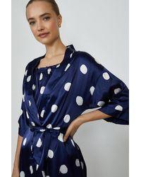 Coast Satin Spot Gown - Blue