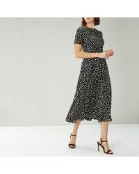 Coast Sarah Spot Dress - Negro