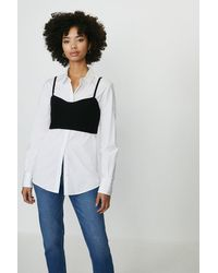 Coast Knitted Cami Bralet - Black