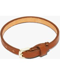 Coccinelle Message In A Bracelet Brule Tumbled Leather - Brown