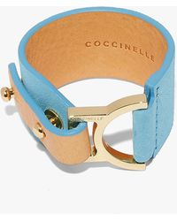 Coccinelle Arlettis Suede Pool Suede And Metal - Blue