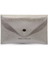 Coccinelle Wish In A Pocket Silver Saffiano Leather - Metallic