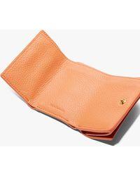 Coccinelle Metallic Soft Leder mit natürlicher Narbung - Orange