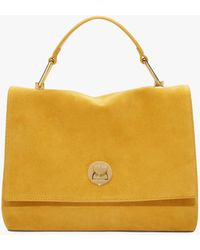 Coccinelle Liya Suede Medium Sun Suede And Tumbled Leather - Yellow