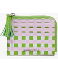Coccinelle Tassel Mulicolor Graceful Pink/Green Soda Vitello Grana Naturale Stampato - Verde